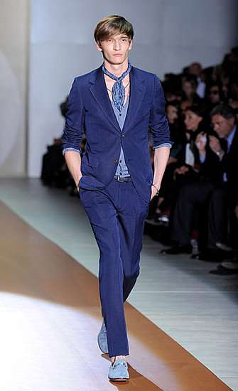 Royal Blue Suits - The Gucci Spring Menswear Collection is Drenched in Aqua Hues