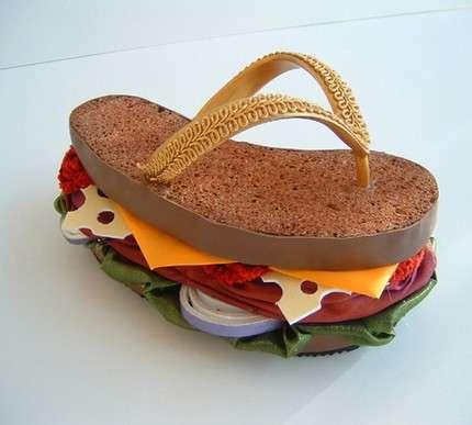 Sculptural Burger Sandals