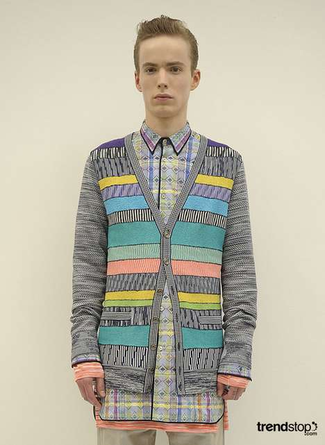 Tribal Cartoon Knits  - Missoni's Spring Summer Collection is Electric Cool