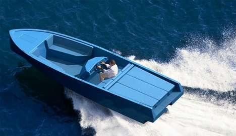 Bright Blue Speed Boats