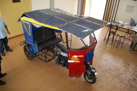 Eco Rickshaws - The Solar Mototaxi Ditches the Two-Stroke Engine and Goes Green