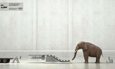 Elephant-Carrying Trucks