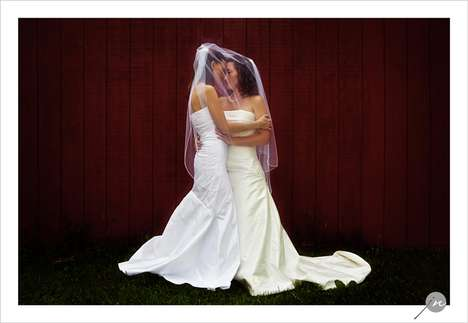 Double Dress Weddings - One Same-Sex Couple Breaks Stereotypes by Both Wearing White Gowns