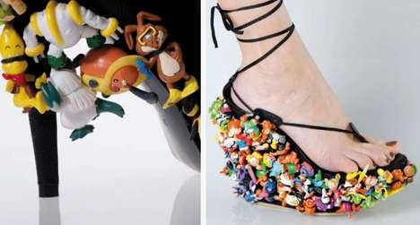 Toy-Covered Footwear - 'Come and Play With Me' by Naam Ben Are Dream Heels for Toy Fanatics