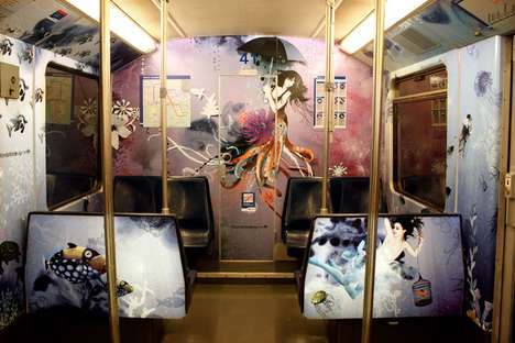 Surreal Subway Murals - Million Dollar Design Transforms Underground Transportation With Graffiti