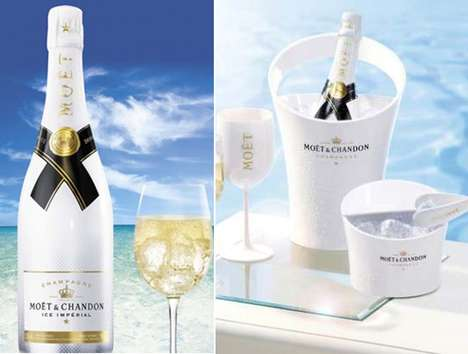 Gold-Accented Champagne Bottles - The Moet Imperial Ice Launch Bottle is Gilded to Perfection