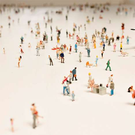 'Alone in a Crowd' is Rolf Sachs' Incredible Itty-Bitty Art Installation