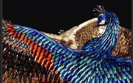 Vibrant Cosmetic Sculptures