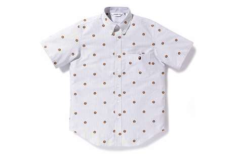 Polka Dot Button Downs - Bathing Ape Striped Oxford Shirts Make Dressing Up Worth While