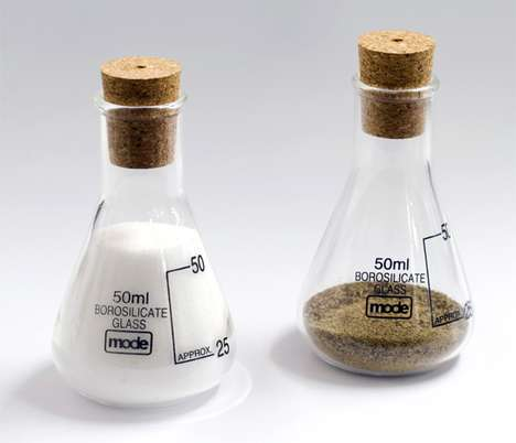 Chemistry Class Condiments - The Earl Salt and Pepper Shakers are Fit for the Lab