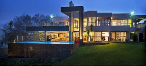 House in Bryanston by Nico Van Der Meulen Architects Dazzles in South Africa