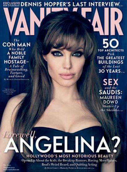 Bombshell Farewell Shoots - Angelina Jolie Opens up for Vanity Fair