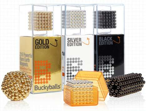 Luxury Desk Toys - Buckyballs Executive Editions Come in Gold, Silver & Nickel