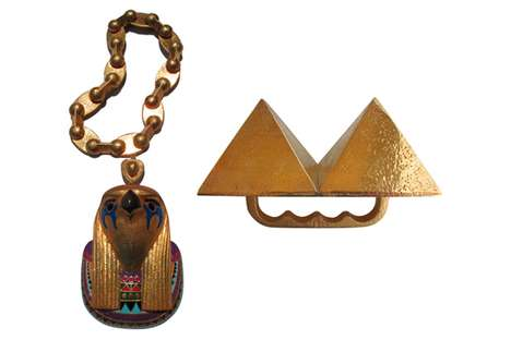 Egyptian God Jewelry - The Kanye West Pyramid Ring and Horus Chain are Badass