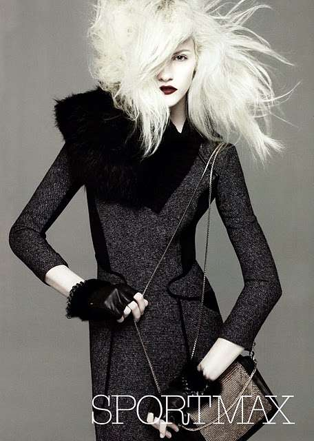 Bleached Fashion Photography - The Ginta Lapina for Sportmax Fall Campaign is Colorless
