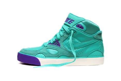 Hyper-Colored Trainers - The Nike Auto Trainer Green/Purple are Hipster-Friendly
