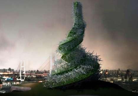 Air-Cleaning Algae Towers