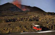 Erupted Volcano Driving