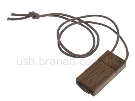 Wooden USB Necklace