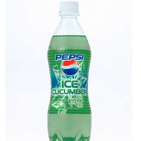 Ice Cucumber Soda - Pepsi's Veggie Pop Gets Big in Japan