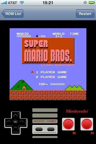 iPhone Nintendo Emulator