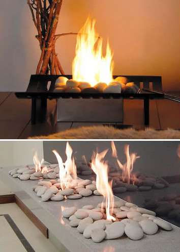 Smokin' Hot Designs - EcoGreen Fire Open-Flame Ventless Fireplace