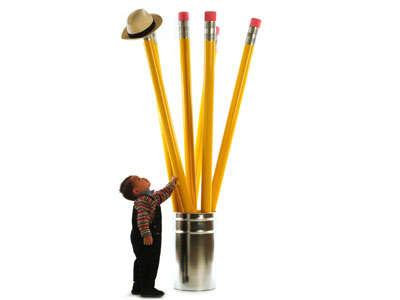 Giant Pencil Coat Hanger