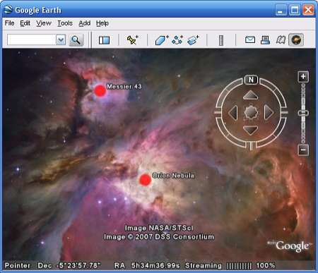 Google Earth Gets Into Space