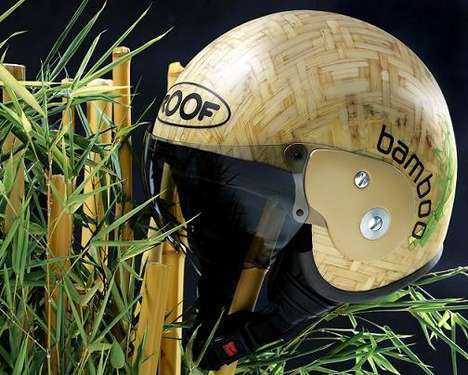 Bamboo Motorcycle Helmet - Natural Noggin Protection