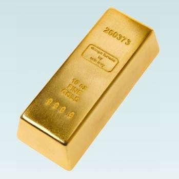 Gold Bar Doorstop