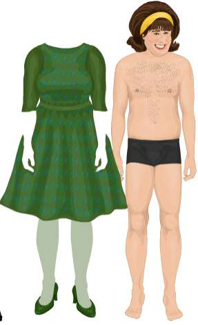 Virtual Paper Dolls - Dress Up The Olsens, Paris, John Travolta