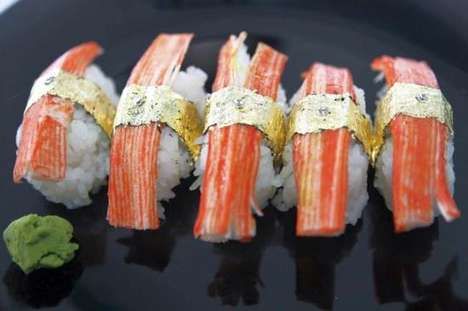 $2,700 Sushi - The World's Most Expensive Sushi is Garnished in Gold
