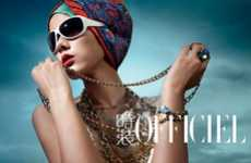 Summertime Turbans - The Eccentric L'Officiel China Spread