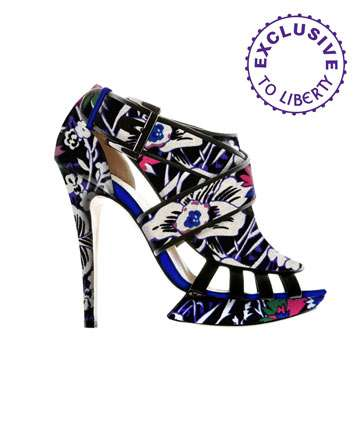 Flower Power Printed Heels