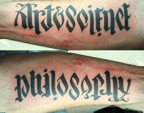 This Ambigrammatic Tattoo Says 'Art & Science' & 'Philosophy' All At Once