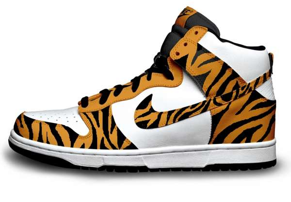 Tigger-Inspired High Tops : Nike Shoe