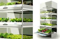 Hydroponic Indoor Gardens - The Hyundai Kitchen Nano Lets Users Grow Their Own Organic Veggies
