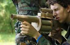 Cardboard Combat Gear - The Cardboard Warfare Video Fights With Harmless Biodegradable Weapons