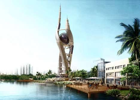 Spiraling Cosmic Towers - The Space-Scraper in Cairo is Futuristic and Eco-Friendly