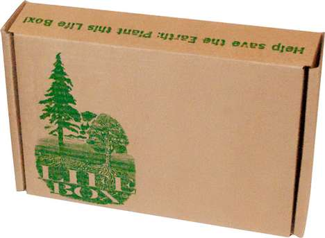 The Cardboard Life Box Will Grow a Tree When It's Chucked