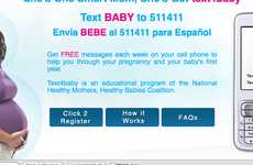 Text Message Pregnancy Tips - Text4baby Aims to Educate Expectant Mommies Through Texting