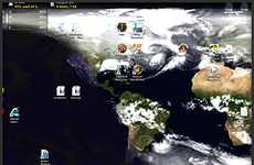 Evolving Globe Wallpaper - Desktop Earth Updates NASA Images of Earth to Your Computer