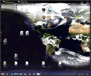 Evolving Globe Wallpaper