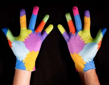 Motion Sensor Mittens - These Colorful Lycra Gloves Use a Gesture-Based Computer Interface