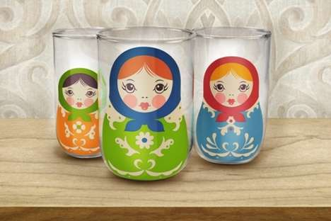 Cute Matryoshka Cups