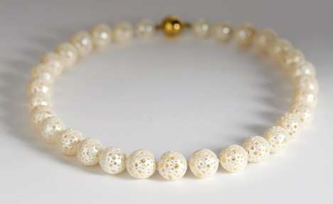 Hollow Pearl Necklaces