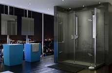 Ultra-Minimalist Showers - The Purfect and Mechanix Shower Door by Maax Has No Frame