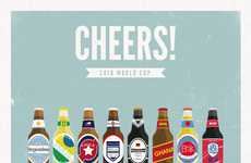 Toasting FIFA Art - Moxy Creavtive 'Cheers' Posters Raise a Toast to Top World Cup Teams