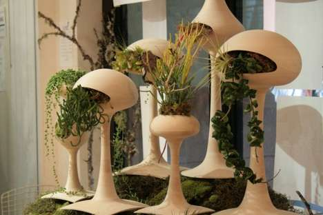 Shrub-Slurping Sculptures - The Golly Pods Gulp Plants for the Sake of Home Decor