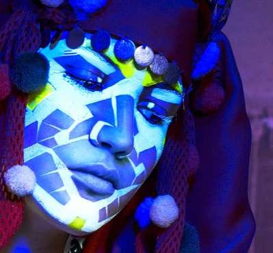 Fluorescent Face Paint